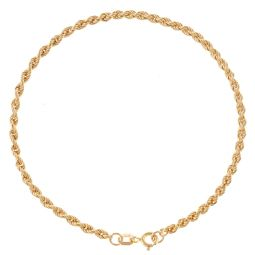 Pre-Owned 18ct Yellow Gold Classic Rope Bracelet - 1.8g