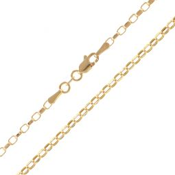 Pre-Owned 18ct Yellow Gold Oval Belcher Chain - 3.7g