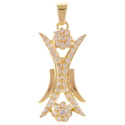 Pre-Owned 18ct Yellow Gold 0.55ct Diamond Cocktail Geometrical Pendant - 4.1g