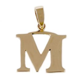 Pre-owned 14ct Yellow Gold Initial Letter M Pendant