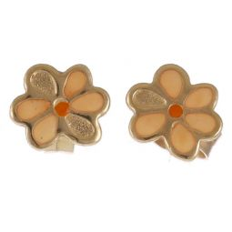 Pre-owned 14ct Yellow Gold Flower Earrings