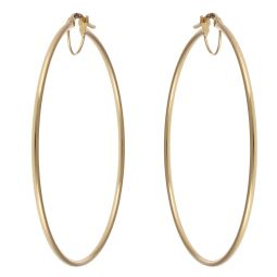 Pre-owned 18ct Yellow Gold Earrings - 55mm
