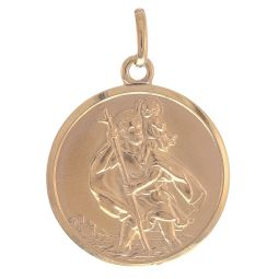 Pre-owned 9ct Yellow Gold St. Christopher Pendant - 8g