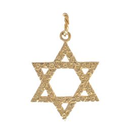 Pre-owned 18ct Yellow Gold Star of David Pendant - 10g