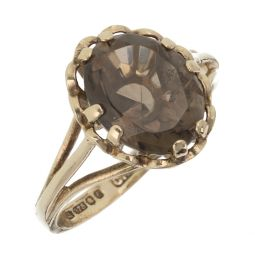 Pre-owned 9ct Gold  Gemstone Ring - Size J