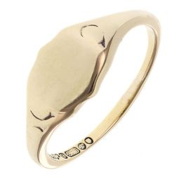 Pre-owned 9ct Yellow Gold Signet Ring - Size N