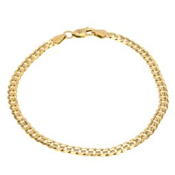 14ct Gold Curb Bracelet 4.5g 7.5""