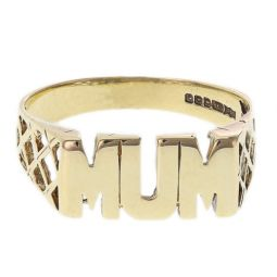 Pre-owned 9ct Yellow Gold Mum Ring - Size Q