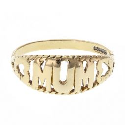 Pre-owned 9ct Yellow Gold Mum Ring - Size T