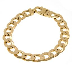 """9ct Solid Chunky Curb Bracelet 39g 9"""""""