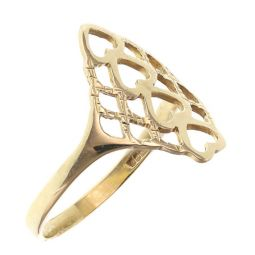 Pre-owned 9ct Yellow Gold Heart Ring - Size P