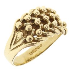 Pre-owned 18ct Yellow Gold 3 Row Keeper Ring - 7.8g - Size N 1/2