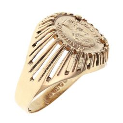 Pre-owned 9ct Yellow Gold Signet Ring - Size K