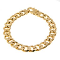 9ct Yellow Solid Gold Chunky Curb Bracelet 48g 8.75""