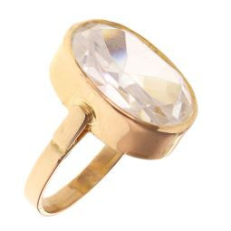Pre-owned 21ct Yellow Gold Gemstone Ring - 8g - Size M
