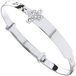 9ct White Gold Expandable Bangle