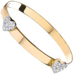 9ct Yellow  Gold Expandable Bangle