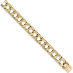 9ct Yellow Gold Curb Bracelet 15.0mm