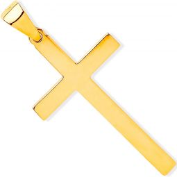 Yellow Gold Solid Large Plain Cross