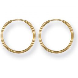 9ct Yellow Gold Sleepers Earrings 15mm