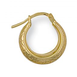 9ct Yellow Gold Creole Earrings 14.5mm