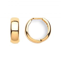 9ct Yellow Gold Earrings 16.0mm