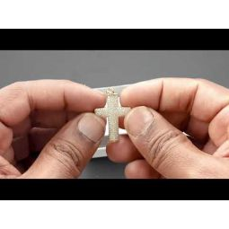 Pre-owned 9ct Yellow Gold CZ Cross Pendant