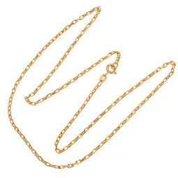 Pre-owned 9ct Gold Diamond Cut Belcher Chain - 20 inches