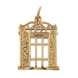 Pre-owned 9ct Gold Gate Pendant