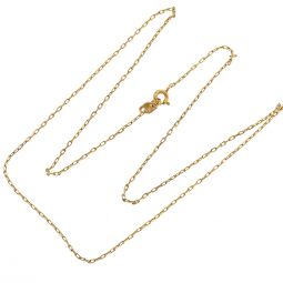 Pre-owned 9ct Yellow Gold Diamond Cut Belcher Chain - 20 inches
