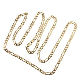 Pre-owned 9ct Yellow Gold Curb Chain 34.5 Inches 40g