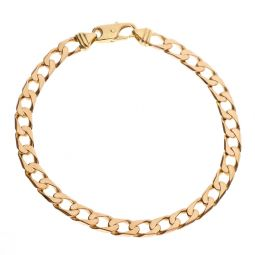Pre-owned 9ct Rose Gold Curb Bracelet 7.5 Inches 11g