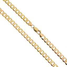 Pre-owned 9ct Yellow Gold Curb Chain 18 Inches 25g
