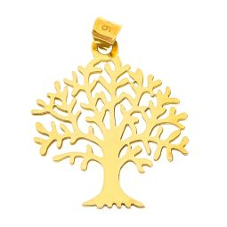 Pre-owned 9ct Gold Tree Of Life Pendant