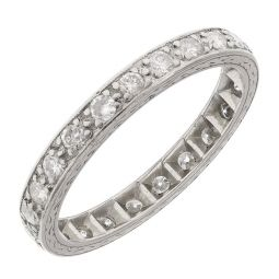 Pre-owned Platinum Full Eternity Ring Set With 0.70ct Diamonds - Size P