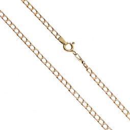 Pre-owned 9ct Rose Gold Square Curb Chain 17 Inches 5g