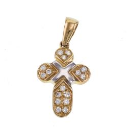 Pre-owned 9ct Gold Cross Pendant