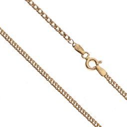 Pre-owned 9ct Yellow Gold Double Curb Chain 17 Inches
