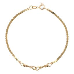Pre-Owned 9ct Yellow Gold Serpentine Bracelet
