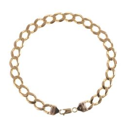 Pre-Owned 9ct Yellow Gold Curb Bracelet - 21G