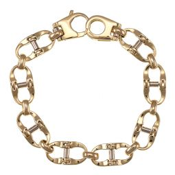 Pre-owned 18ct Yellow Gold Link Bracelet - 7 Inches - 26g