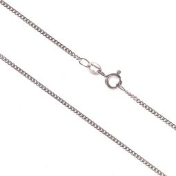 Pre-owned 9ct White Gold Curb Chain 24 Inches