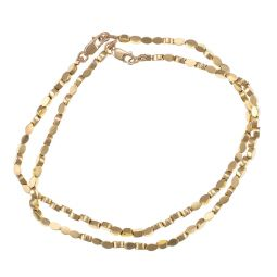 Pre-owned Yellow Gold Bead Bracelet - 8 Inches - 18g