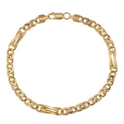 Pre-owned 18ct Yellow Gold Fancy Bracelet - 8 Inches - 7g