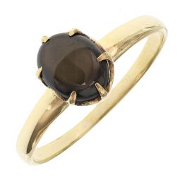 Pre-owned 9ct Yellow Gold Gemstone Ring - Size R 1/2