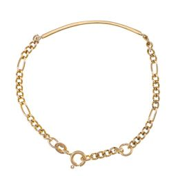 Pre-owned 9ct Yellow Gold Id Bracelet Bracelet - 6 Inches