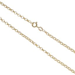 Pre-owned 9ct Yellow Gold Round Belcher Chain 20 Inches 9g