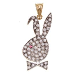Pre-owned 9ct Gold Bunny Pendant - 7g