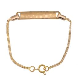 Pre-owned 9ct Yellow Gold Baby's Id Bracelet - 4 Inches