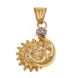 Pre-owned 18ct Gold Sun and Moon Pendant